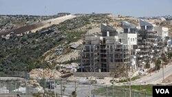Permukiman baru Israel 'Modiin Illit' yang dibangun di wilayah Tepi Barat, Palestina (foto: Maret 2011).