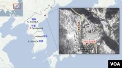 北韓核試驗基地位置圖