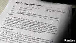 Bản ghi chú này cho thấy sự xác nhận chính thức đầu tiên của chính phủ về một trát FISA bí mật và rằng Carter Page đã là đối tượng bị theo dõi.