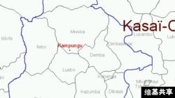 Kasai Occidental (Congo) Map