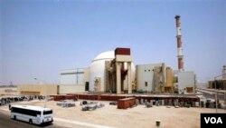 Reaktor nuklir Iran di Bushehr, Iran barat daya.