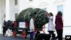 Los Obama ya tiene árbol para navidad.