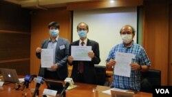 香港民意研究所公布市民11月26日对最新一份施政报告的评分,结果创有史以来最低分。(美国之音王四维拍摄)