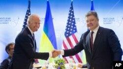 Зустріч Джозефа Байдена і Петра Порошенка у Вашингтоні