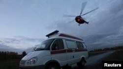 La nave accidentada aún no había recogido al paciente en la zona de Mendota.