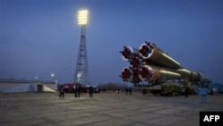 Российская ракета-носитель выкатывается на стартовую позицию (архивное фото)