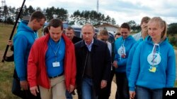 Путин на Селигере, 29 августа 2014