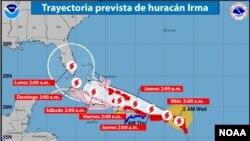توفان ایرما تا روز یکشنبه به سواحل فلوریدا خواهد رسید