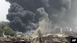 تهقینهوهکان پایتهختی لیبیایان ههژاند لهم دهمهی گۆشاری ناتۆ بهردهوامه