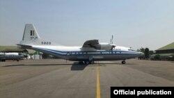 ပ်က္က် တပ္မေတာ္ေလယာဥ္ Y-8 200F အမ်ိဳးအစား ေလယာဥ္အမွတ္ ၅၈၂၀ (တပ္မေတာ္ကာကြယ္ေရးဦးစီးခ်ဳပ္႐ုံး)