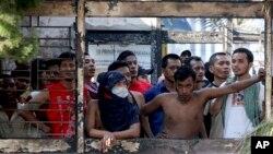 Tù nhân tại nhà tù Tanjung Gusta ở Medan, Bắc Sumatra.