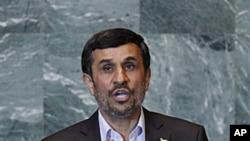 九月二十二日伊朗總統艾哈邁迪內賈德利用他在聯合國大會發言的機會﹐為伊朗的核 項目辯護。