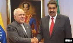 Cevat Zarif ve Venezuela Devlet Başkanı Nicolas Maduro