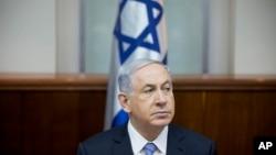 بنیامین نتانیاهو نخست وزیر اسرائیل در نشست هفتگی کابینه در اورشلیم - ۱۴ دی ۱۳۹۳