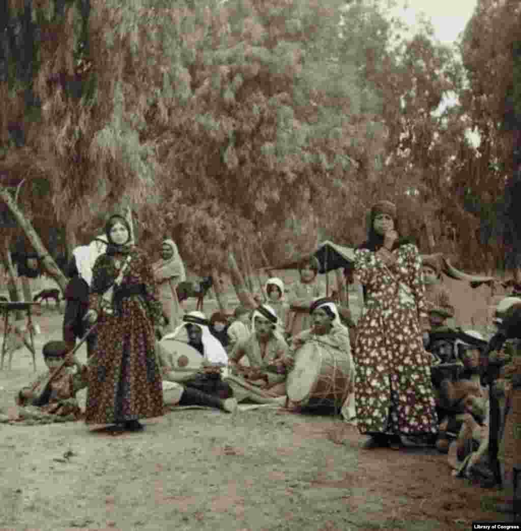 Dom in Damascus garden, date unknown.
