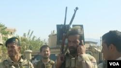 پولیس قوماندانی امنیه بلخ بعد از حمله افراد مسلح به این قوماندانی