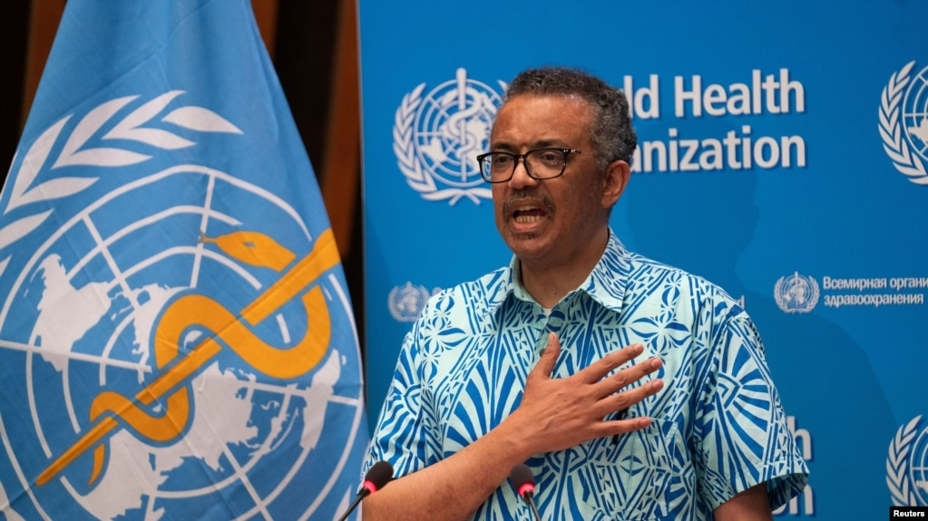 Tổng giám đốc Tổ chức Y tế Thế giới (WHO) Tedros Adhanom Ghebreyesus.