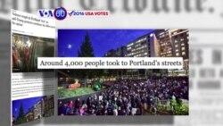 Manchetes Americanas 11 Novembro: As manifestações contra Trump continuam