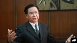 资料照:台湾外交部部长吴钊燮。