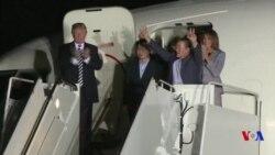 Trump accueille les trois Américains libérés par Pyongyang (vidéo)