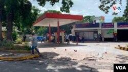 Foto de archivo de una estación de servicio en Altamira Sur, en el este de Caracas, Venezuela.