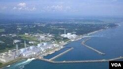 Pembangkit nuklir Fukushima Daiichi yang mengalami kebocoran sejak gempa dan tsunami 11 Maret.
