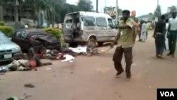 Ya kashe mutane a wurin da bom ya fashe a Kaduna, 23 ga Yuni 2014.