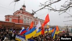 莫斯科在週末舉行反戰示威抗議普京出兵克里米亞