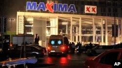 Торговый центр Maxima. Рига, Латвия, 21 ноября, 2013г.