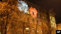 Le siège du parlement en Lettonie