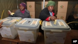 Zimbabweans cast their vote in presidential and parliamentary elections, in Harare, July 31, 2013.
