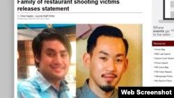 Jerry Nguyễn (24 tuổi) và Anpha Nguyễn (31 tuổi) bị chú ruột bắn chết tại nhà hàng hôm thứ Sáu. Ảnh chụp màn hình trang web abqjournal.com