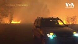 Пожежі на Луганщині: дев'ять людей загинуло. Відео
