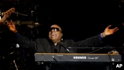 Singer Stevie Wonder performing in January of this year.