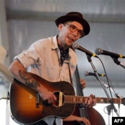 Justin Townes Earle performing at the Newport Folk Festival in Newport, Rhode Island last year.