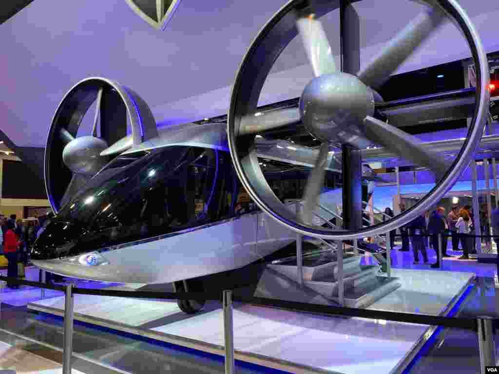 CES 2020/ Aerotaxi que mezcla la tecnología de un carro y un helicóptero para revolucionar el trasporte urbano y servicios como Uber. Foto: Iacopo Luzi.