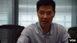 沒有加入「民主派聯絡小組」的泛民議員范國威表示,小組形同虛設。(美國之音湯惠芸拍攝)