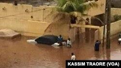 Les inondations à Bamako