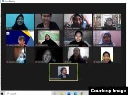 Pertemuan virtual pemeriksa fakta junior MAFINDO yang beranggotakan mahasiswa dari beberapa kampus pada 11 Mei 2021. (Courtesy: MAFINDO)