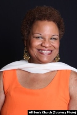 Pastor Susan Newman Moore of All Soul's Church.