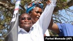Ossufo Momade, em campanha eleitoral em 2019.