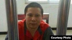 2013年7月下旬被拘留的許志永 (圖片來自劉衛國的推特)