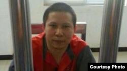 2013年7月下旬在狱中的许志永 (图片来自刘卫国的推特)