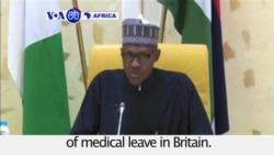 VOA60 Africa - Nigerian President to Resume Duties After 7-week Medical Leave