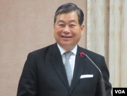 台湾外交部次长石定 (美国之音张永泰 拍摄)