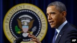 Presiden Barack Obama menyerukan agar Kongres mendukung upaya untuk mengurangi wabah kekerasan bersenjata di Amerika (Foto: dok).