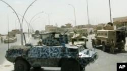 9일 이라크 북부 모술에서 정부군이 무장세력과 교전을 벌이고 있다. 이라크 정부군이 촬영한 영상이다.