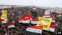Người Hồi giáo Sunni ở Iraq biểu tình phản đối chính phủ ở Falluja 15/2/13