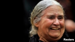 FILE - British novelist Doris Lessing is seen in a January 30, 2008, photo.