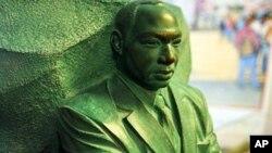 """Model za spomenik """"Kamen nade,"""" na mjestu gdje će biti postavljen u Washingtonu, 1.12. 2010."""